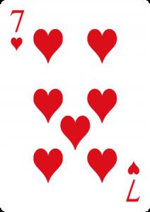 siete de corazones