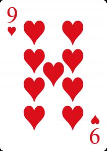 nueve de corazones