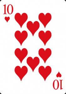 diez de corazones